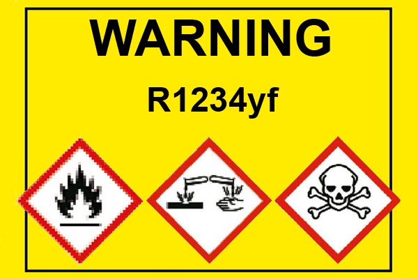 Airconditioning-refrigerant-R1234yf-danger-warning