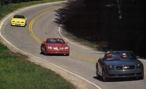 Audi-TT-Mercedes-Benz-SLK-BMW-Z3-German-luxury-roadsters-first-generations