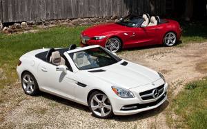 Mercedes-Benz-SLK-BMW-Z4-German-luxury-roadsters-third-generations