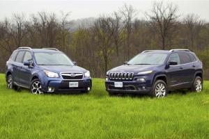 European-car-sales-statistics-midsized-crossover-segment-2014-Jeep_Cherokee-Subaru_Forester