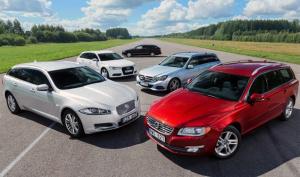 European-car-sales-statistics-premium-large-segment-2014-Volvo_V70-Jaguar_XF