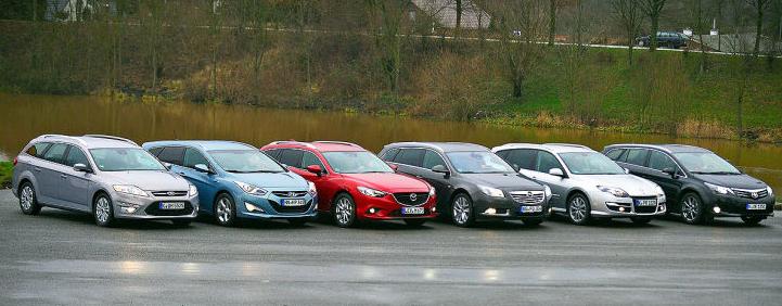 Ford_Mondeo-Hyundai_i40-Mazda6-Opel_Insignia-Renault_Laguna-Toyota_Avensis-Midsized_Car_Segment-Europe