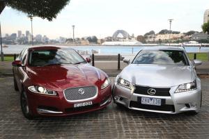 European-auto-sales-statistics-2014-full-year-Jaguar-XF-Lexus-GS