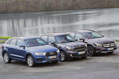 Audi_Q3-Mercedes_Benz_GLA-Mini_Countryman-european_car_sales-2015-premium_small_SUV_segment