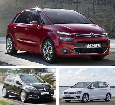 Midsized_MPV-segment-European-sales-2015-Citroen_C4_Picasso-Renault_Scenic-Volkswagen_Golf_Sportsvan