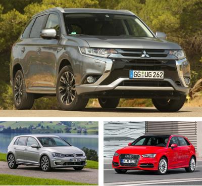PHEV-segment-European-sales-2015_Mitsubishi_Outlander_PHEV-Volkswagen_Golf_GTE-Audi_A3_e_Tron