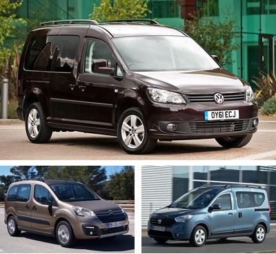 Passenger-van-segment-European-sales-2015-Volkswagen_Caddy_Life-Citroen_Berlingo_Multispace-Dacia_Dokker