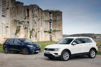 Midsized_crossover-sales-Europe-2016-Renault_Kadjar-Volkswagen_Tiguan