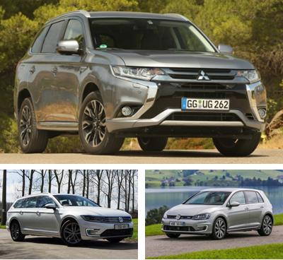 PHEV-segment-European-sales-2016_Mitsubishi_Outlander_PHEV-Volkswagen_Passat_GTE-Volkswagen_Golf_GTE