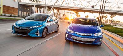 2017 Toyota Prius Prime Advanced and 2017 Chevrolet Volt Premier