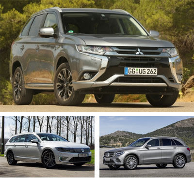 PHEV-segment-European-sales-2017_Mitsubishi_Outlander_PHEV-Volkswagen_Passat_GTE-Mercedes_Benz_GLC350e