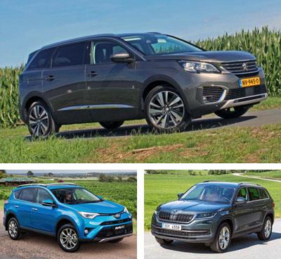 Midsized-crossover-segment-European-sales-2018-Peugeot_5008-Toyota_RAV4-Skoda_Kodiaq