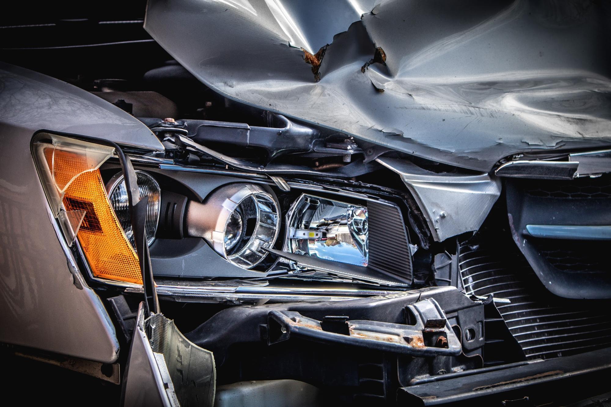 a wrecked car