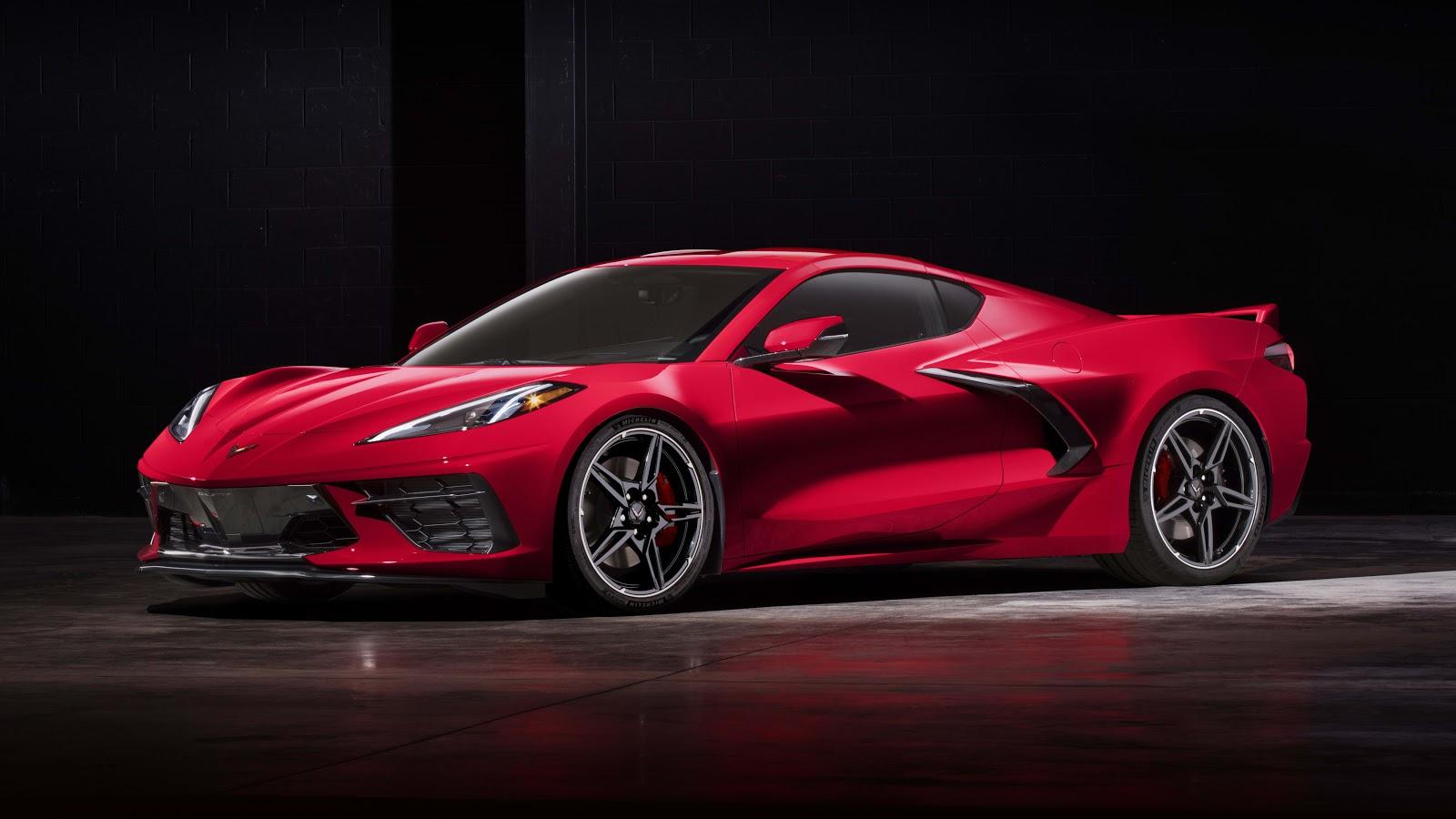 Red C8 Corvette