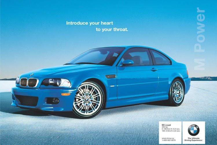 Blue BMW E46 M3