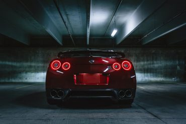 Red R35 Nissan GTR