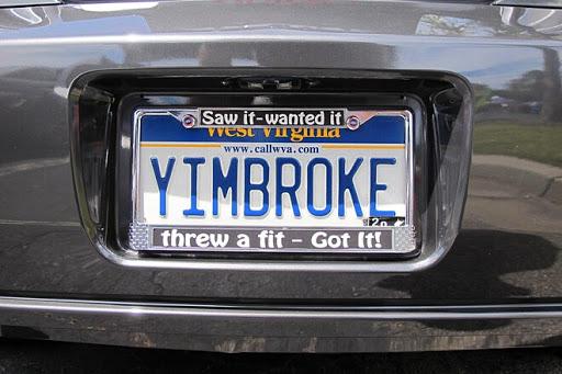 Why I'm Broke Vanity Plate