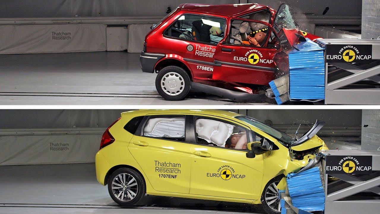 Old vs new car crash test