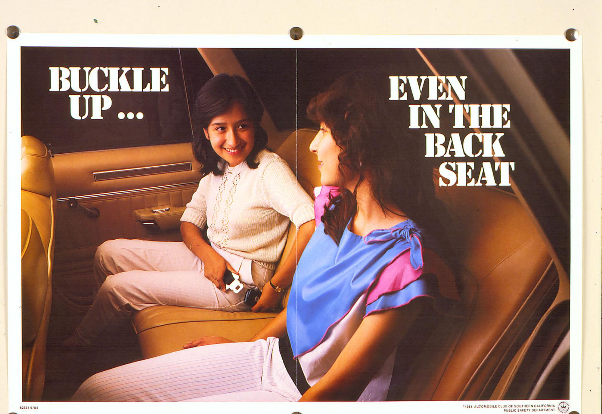 Vintage seat belt safety ad